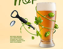 Beer ad made with PNG images