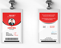 Corporate office id card template on behance accmission Gallery