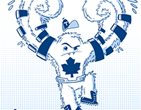 Maple Leafs themed superhero
