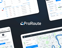 Responsive Mapping Dashboard UI - ProRoute