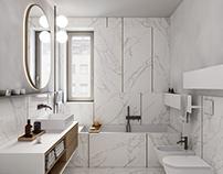 Bathroom - residential building Costanza 11 Milan