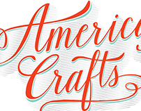 American Crafts Entrance Lettering