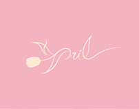 April The K-pop Girl Group Logo Design