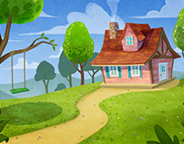 """Red Ridding Hood"" Backgrounds"