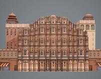 HAWA MAHAL: 3D - Jaipur, India