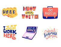 Work sticker Illustrations