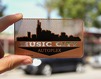 Rustic Copper Finish Business Cards