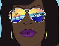 """Illustrations for TNT's Original TV Series """"Claws"""""""