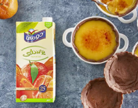 Domty Cheese and Juice recipe campaign
