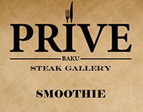 Prive Steak Gallery Menu