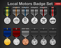 Local Motors Badge Set