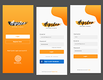 Mobile App design (Login/Signup Screen)