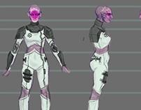 "Character Turnaround: ""Alien Heroine"""