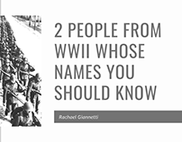 2 People Whose Names You Should Know from WWII