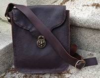 Hand Stitched Leather Satchel