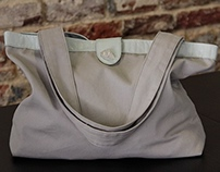 Simple Canvas Tote with Leather Detailing