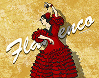 Flamenco Poster Illustration