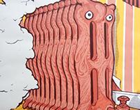 Radiator (Five color screen print)