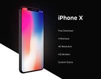 Free iPhone X Mockups