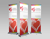 Rollup design for charity of Bogdani Family