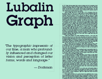 Font Posters, ITC Lubalin Graph