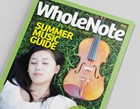 WholeNote Magazine redesign