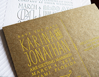 Karina & Jonathan's Wedding Invitation