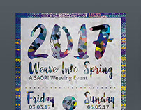 """Weave Into Spring"" Event Postcard"