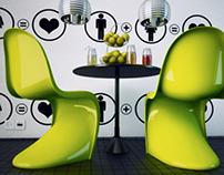Lime Panton Dining Room