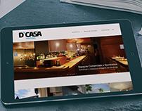 Website D'CASA - Construção e Reabilitação