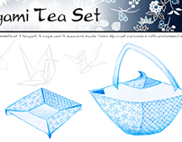 CONCEPTUAL: Origami Tea Set
