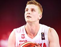 Plakat dla kibicujenaszym.pl. Mistrzostwa Eurobasketu.
