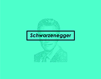Schwarzenegger Typographic Illustration