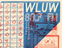 2018 WLUW Spring Schedule - Riso Prints