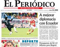 Páginas hechas en el Periódico de los Colombianos