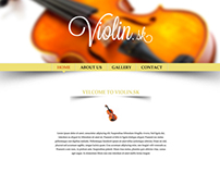 Web design concept for Violin.sk
