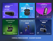 Earphone Banner | Social Media Banner | Web banner