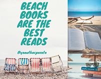 Summer beach reads Instagram post