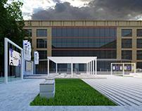 Внутренний двор библиотеки иностранной литературы