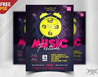 Modern Music Festival Party Flyer PSD