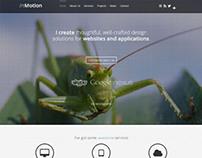 Introducing Motion, Joomla Parallax Portfolio Template
