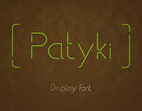 Patyki - display font