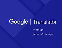 Google Translator - Redesign concept - Material Design