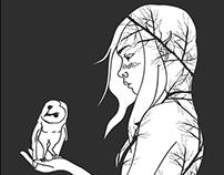 Spirit of the forest/ Music inspired vector art