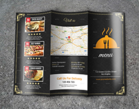 Tri Fold Restaurant BrochureTemplate