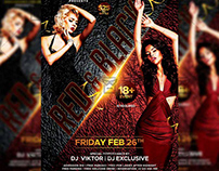 Red and Black Party Flyer - Club A5 Template