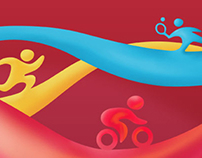 Icons for european youth olympic festival Tbilisi 2015