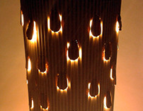 Deszczowe lampy z kartonu / Rain cardboard lamps