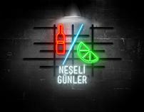 Türk Sineması Minimal Video Afişleri / Neon