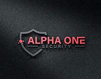 Alpha One Security Logo